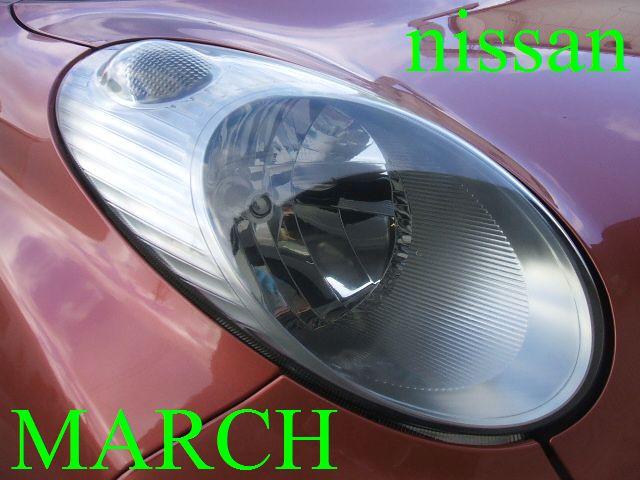日産マーチK12のヘットライトのツヤ復活のビフォーアフター♪