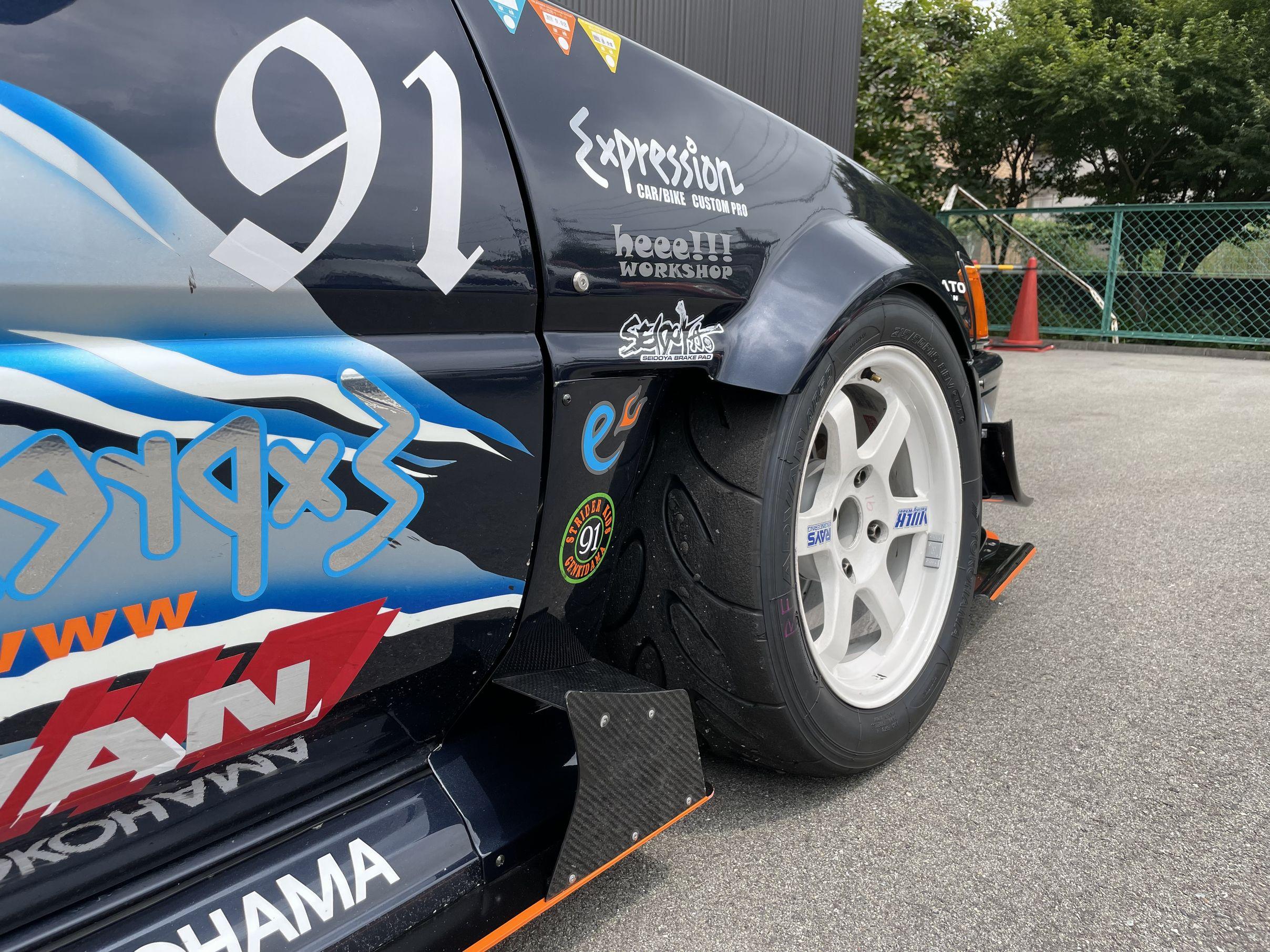 91号車ハチロクレビン・AE86オーバーフェンダー。