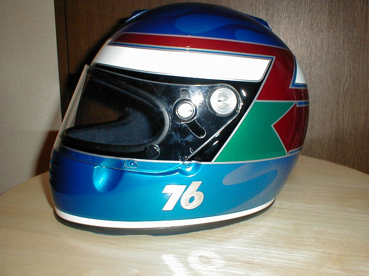 四輪・レース用デザインヘルメット第4弾。『76号車』