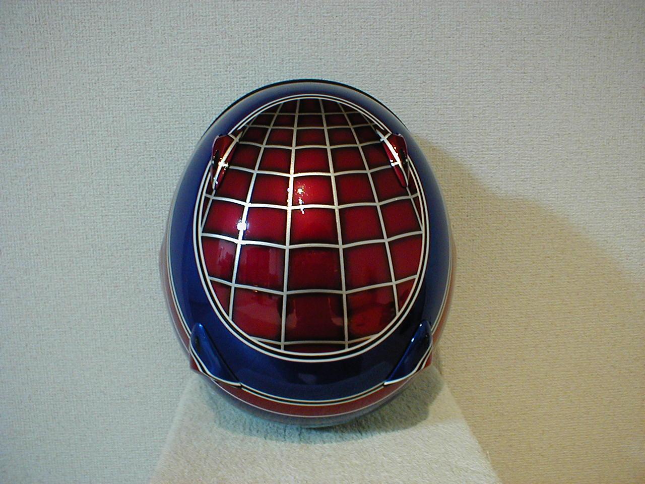 世界で1つだけのデザインヘルメットオリジナルカラーリング『スパイダーマン仕様』