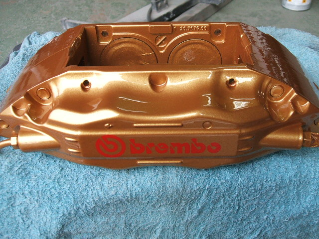 F50フェラーリキャリパー塗装、施工例久性・耐熱性OKバッチリバッチシ