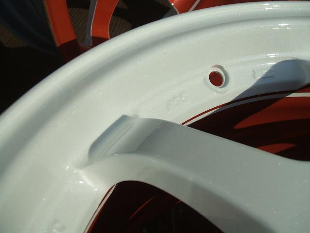 ホイールのカスタムペイント・インナーリム塗装
