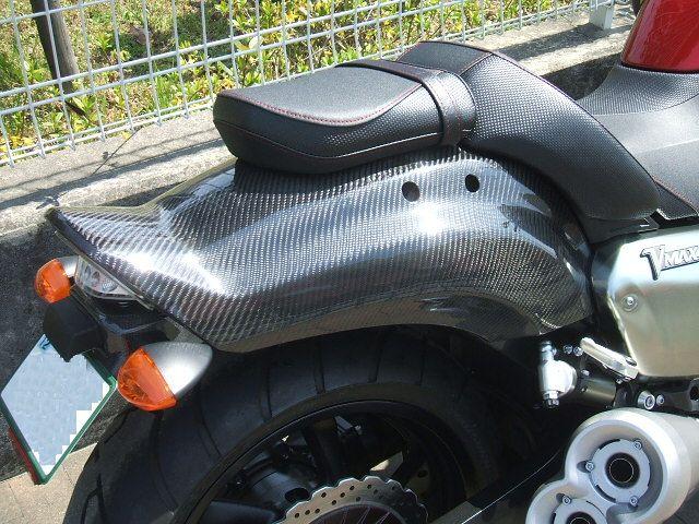 V−MAXリアルカーボン施工フェンダーカスタムワンオフ&マットブラック艶消し塗装