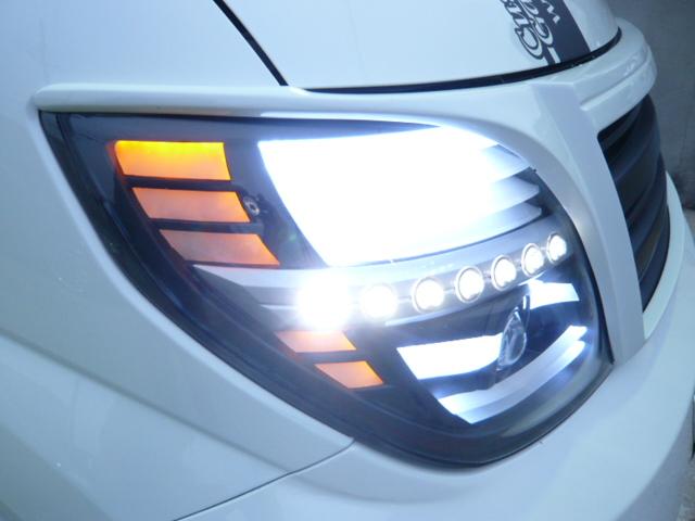E51エルグランド ヘッドライトフル加工 アクリルワーク
