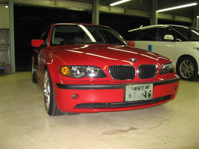 BMW車高調WEITEC取付ドアウィンドフレーム塗装(黒)