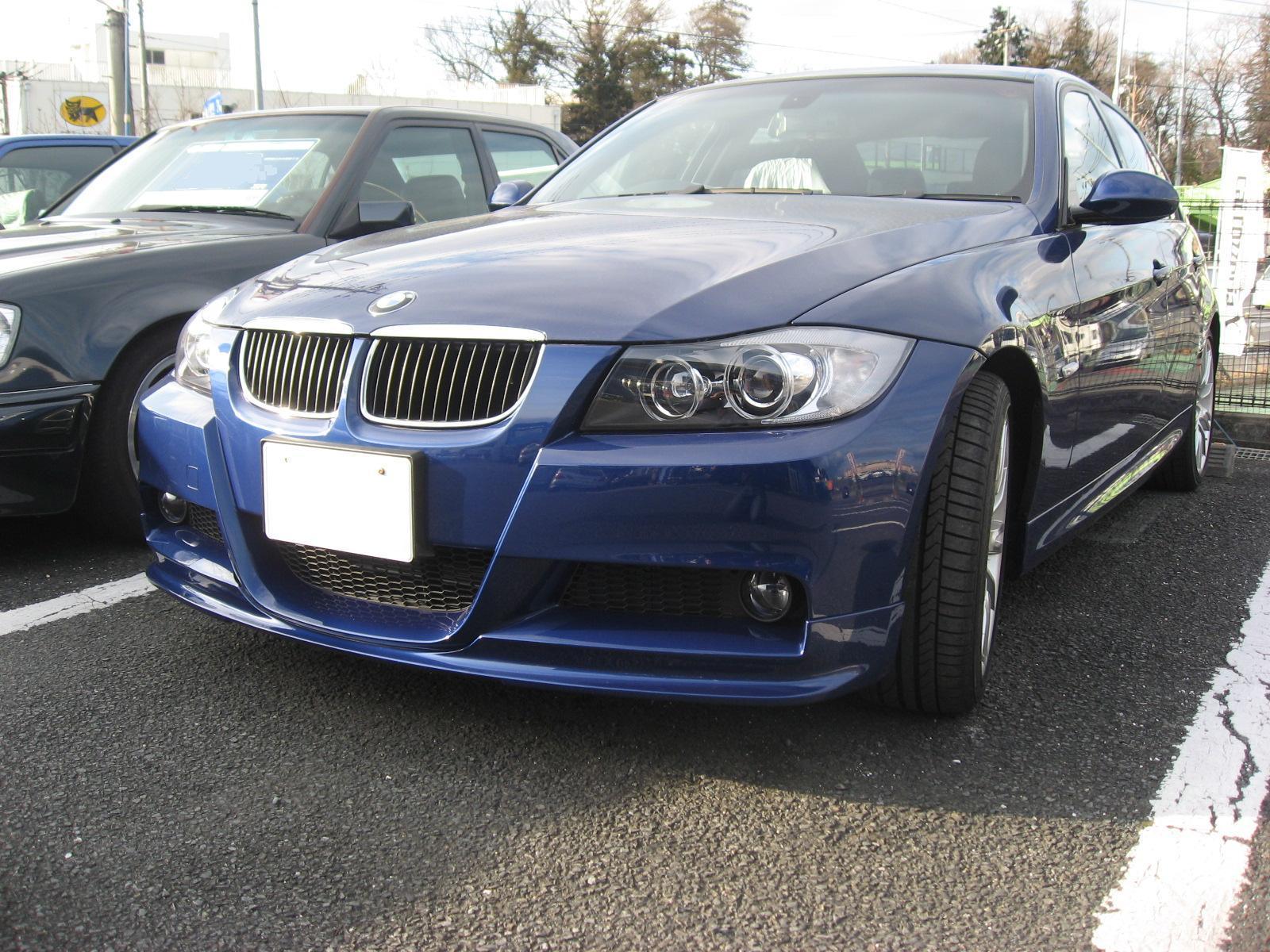 BMW(E90 Mスポーツ)マフラー&リップスポイラ取付