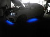 BMW X6 イカリングバルブ交換とアンダーネオン
