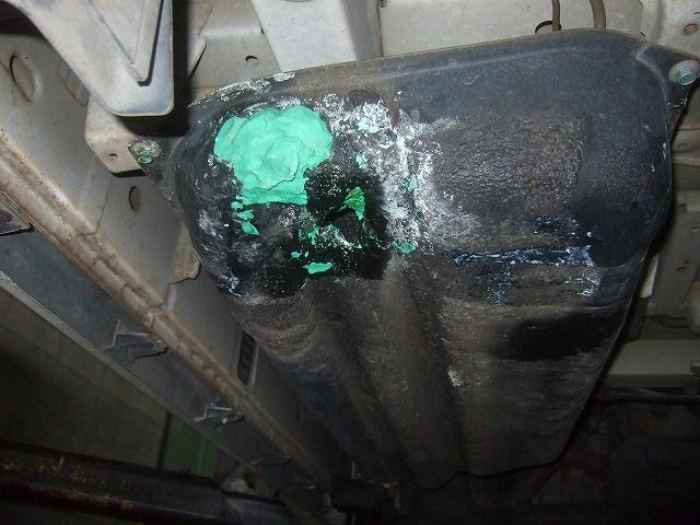 破損した燃料タンクです。