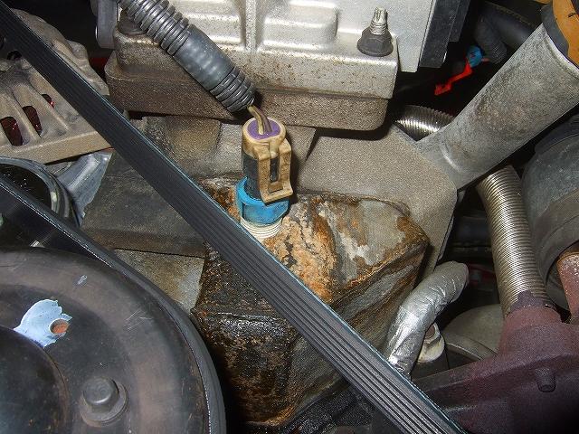水温センサー部の水漏れです。