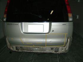 タウンエースノアの後部修理埼玉県自動車板金塗装修理/羽生市