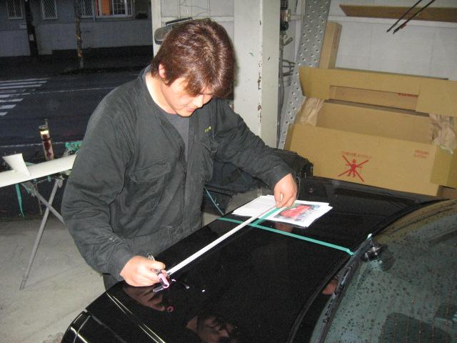 ニッサン 34 スカイライン スポイラー取り付け加工&塗装