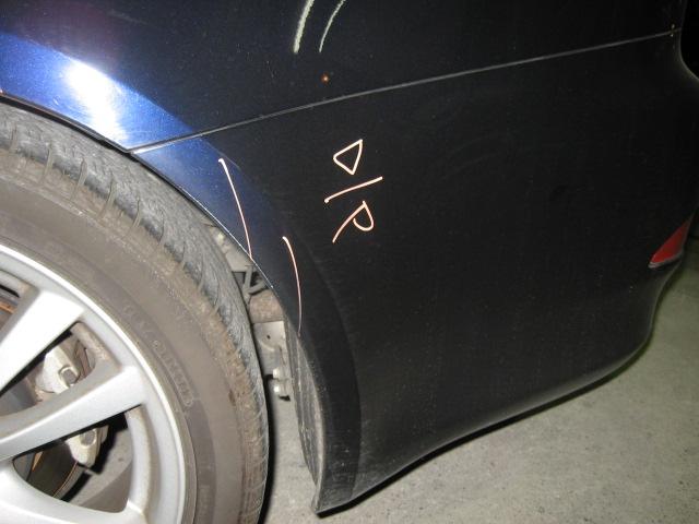 レクサス IS250/IS350左側面リヤドア交換クォーター板金塗装修理千葉松戸タキザワ自動車