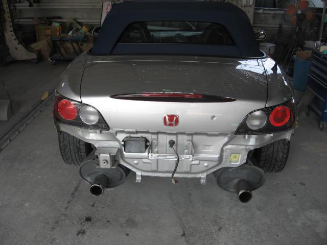 ホンダ S2000 トランク板金・左クォータ板金塗装修理リヤバンパー交換