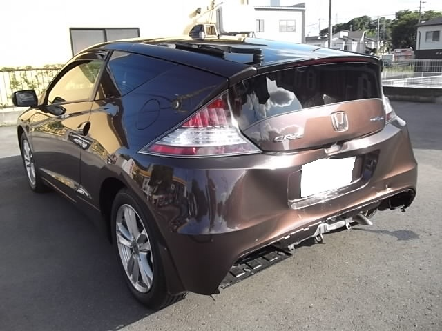 CR−Z大事故車修理玉突きホンダディーラー指定板金塗装修理