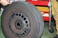 タイヤの確認