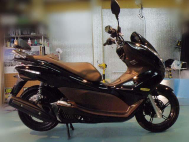 バイク ガラスコーティング ホンダPCX