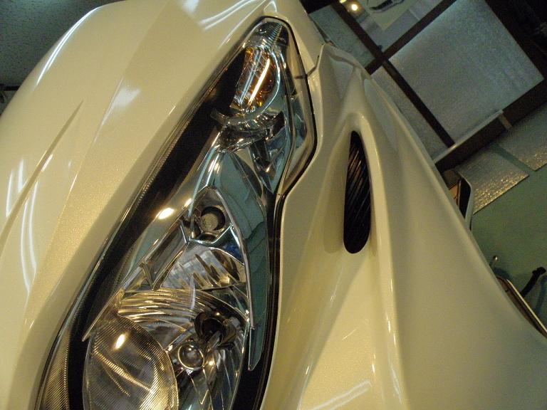 バイク ガラスコーティング スカイウェブ ヘッドライト