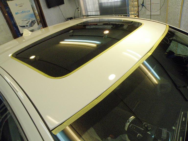 ガラスコーティング BMW 天井
