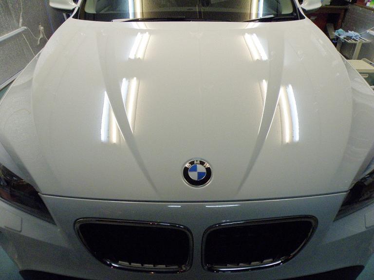 ガラスコーティング BMW X1 ボンネット