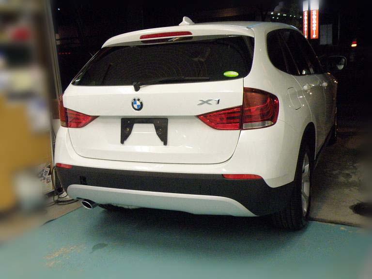 ガラスコーティング BMW X1 リア