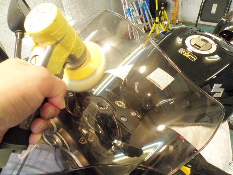 バイクガラスコーティング ハヤブサ 風防