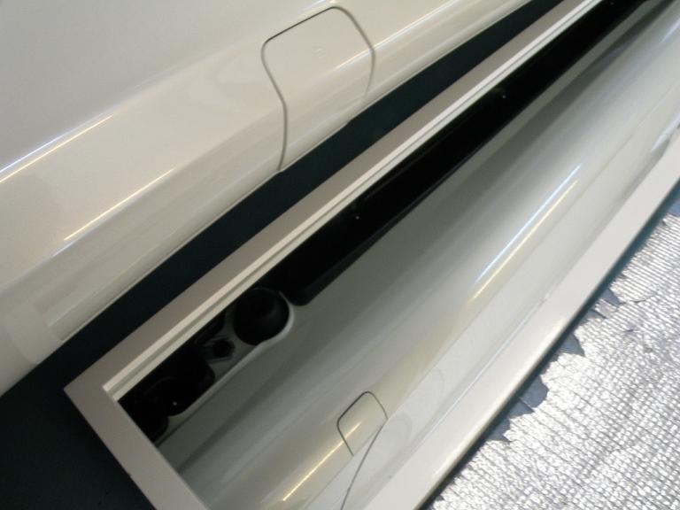 ガラスコーティング ベンツSL350 サイドステップ