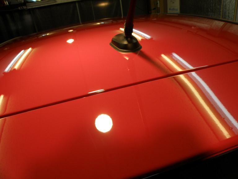 ガラスコーティング ベンツA180 天井