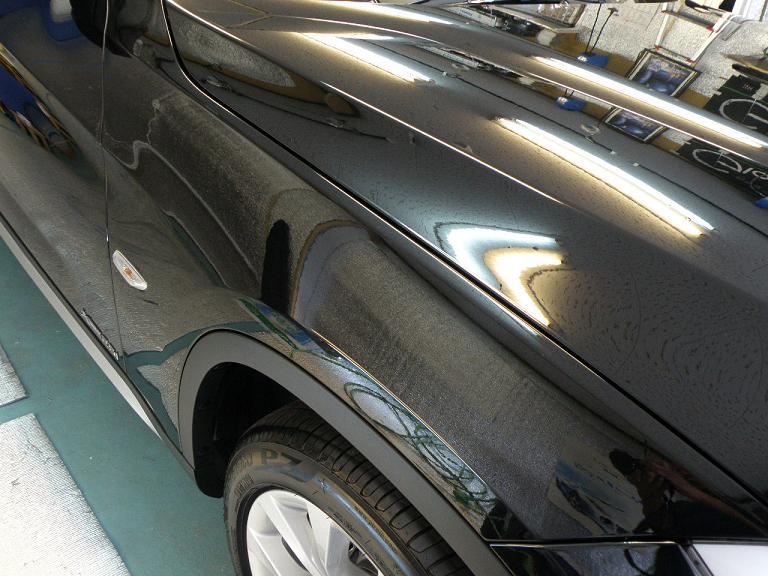 ガラスコーティング BMW X1 サイド