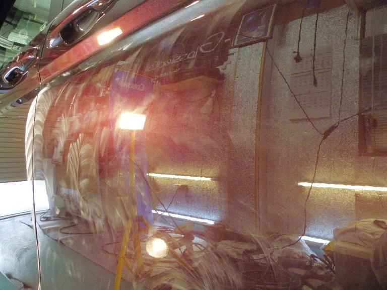 ガラスコーティング ステップワゴン サイド
