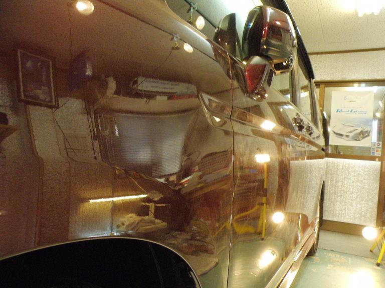 ガラスコーティング ステップワゴン 側面完成