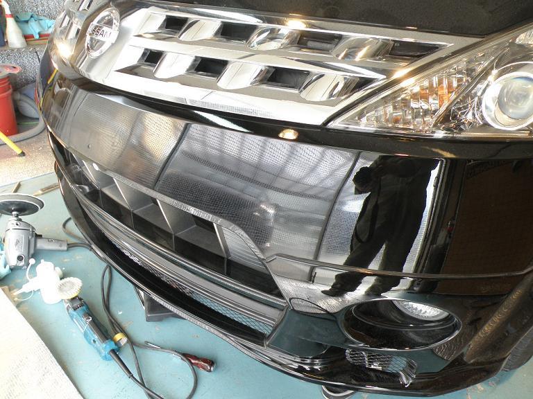 ガラスコーティング 日産ムラーノ350X バンパー
