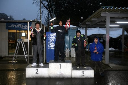 第49回 走行会 2008年2月9日 ドリフト初級 表彰式