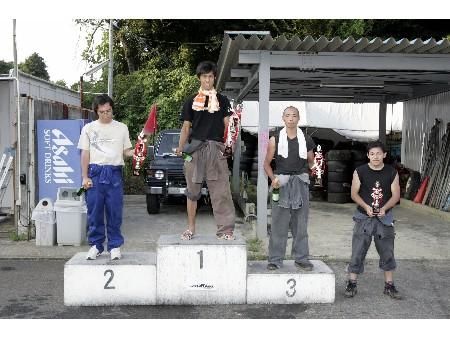 第52回 走行会 2008年8月9日 ドリフト初級 表彰式