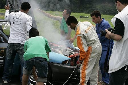 第57回 走行会 2009年7月11日 火事