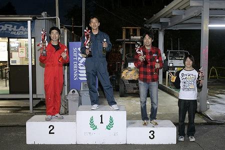 第59回 走行会 2009年11月14日 グリップ初級 表彰式