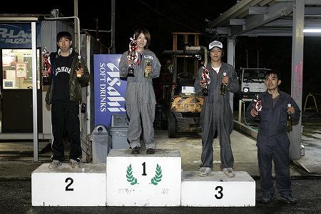 第59回 走行会 2009年11月14日 ドリフト初級 表彰式