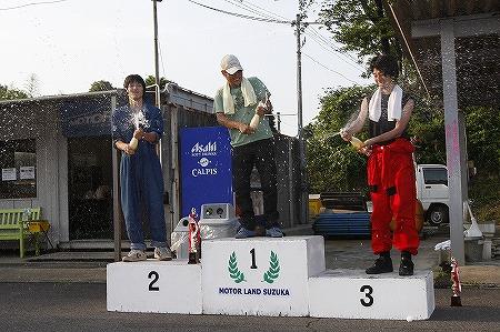 第62回 走行会 2010年7月10日 グリップ初級シャンペンシャワー