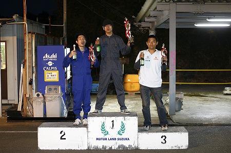 第72回 走行会 2012年11月10日 グリップ初級表彰式