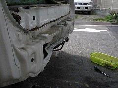 トヨタ ライトエースノア リヤ廻り修理