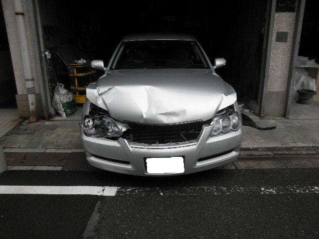 トヨタ マークX 前廻り修理