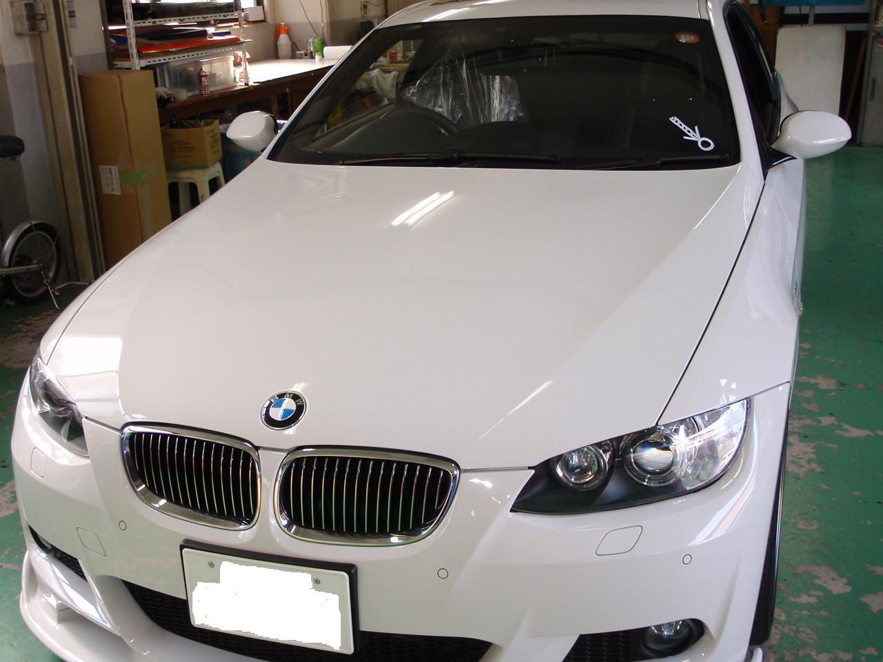 BMW E90 ガラス交換