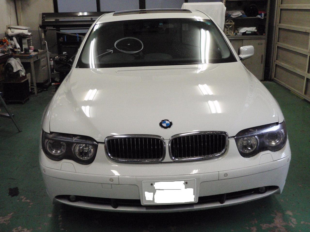 BMW E65 ガラス交換