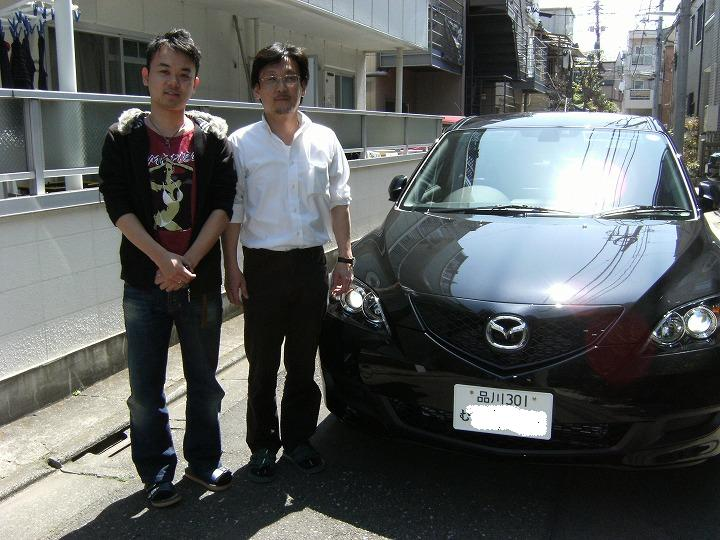 品川区のSさんに新車アクセラを納車いたしました。今日の丸大にアップしています。