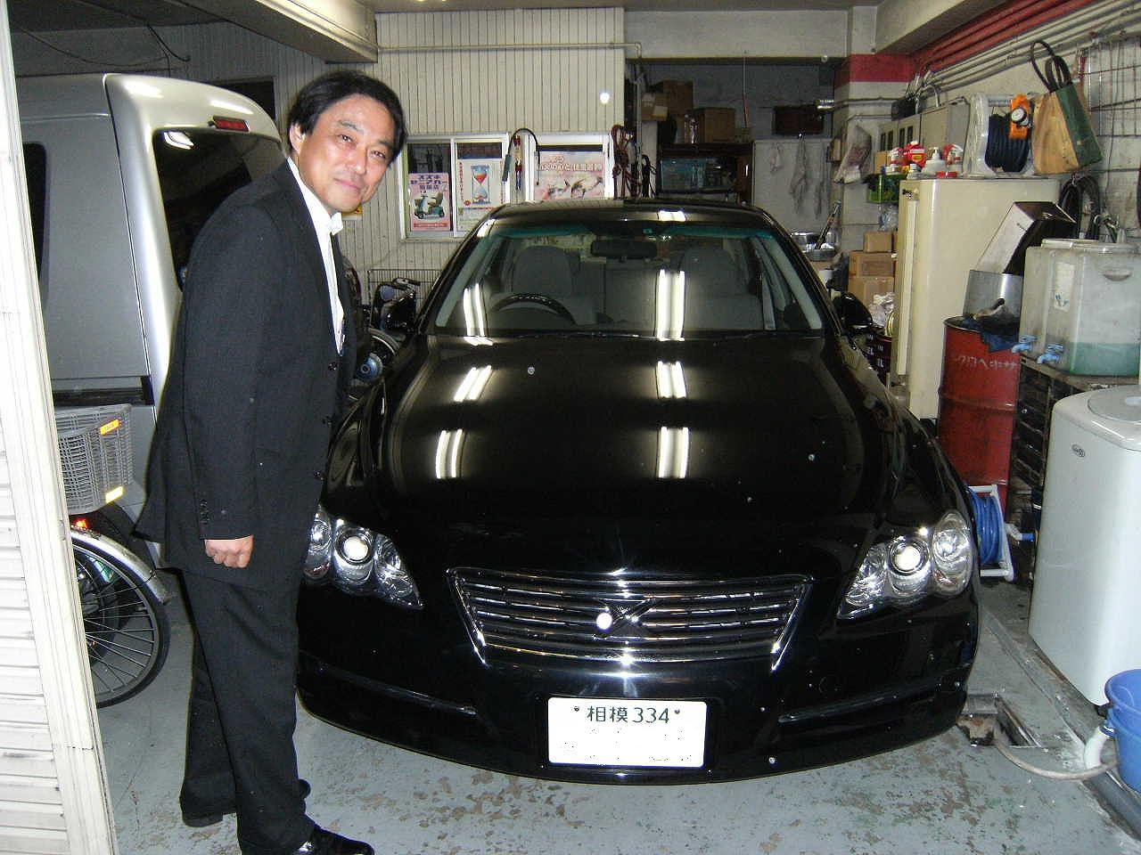 横浜のTさんにマークXの中古車を納車させて頂きました。重厚な黒で、距離も16000Km!今日の丸大に載っています。