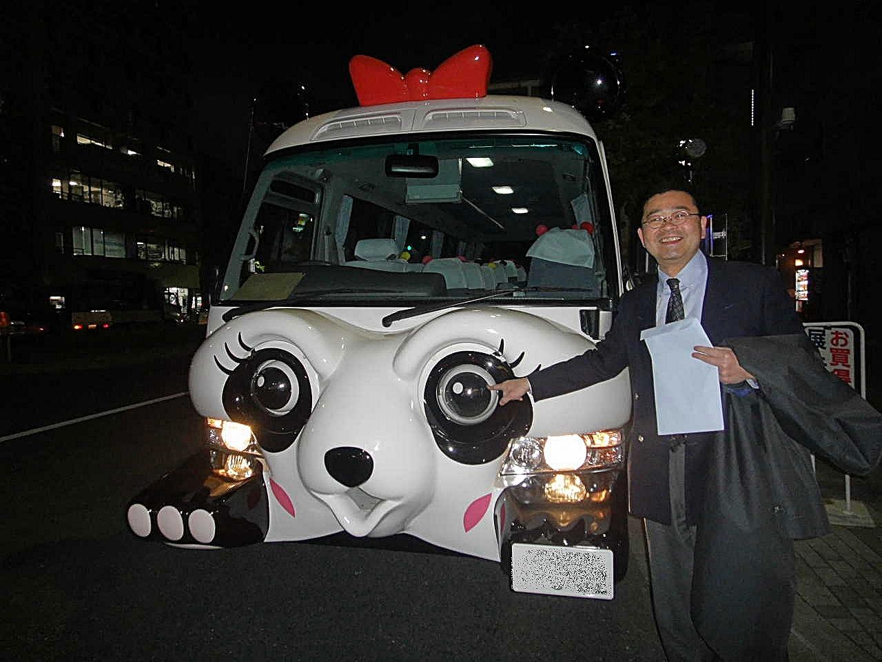 上野〜浅草を循環するシャトルバス「パンダバス」の修理を承りました。今日の丸大にアップしています。