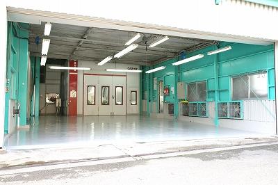 塗装作業スペース