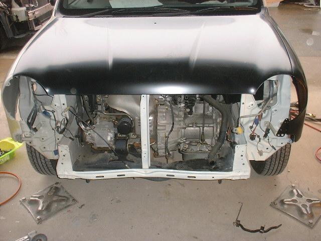ミラジーノの板金塗装 フレーム修正