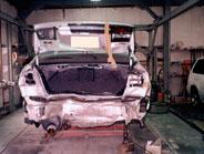 スバル レガシィの修理事例になります。こちらも後部がヘコンで居ます