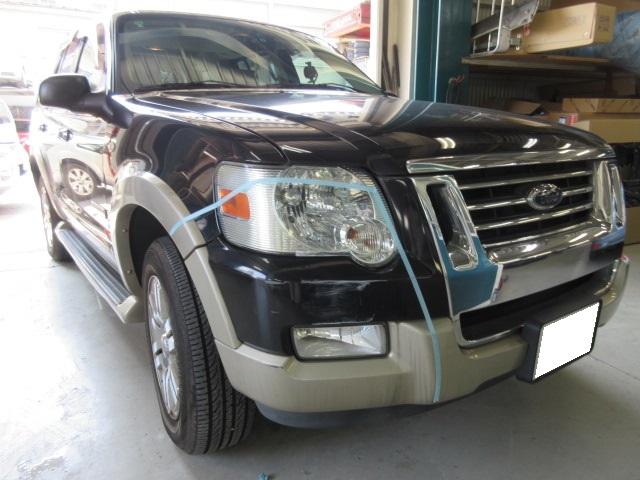 フォード エクスプローラ 板金塗装修理事例