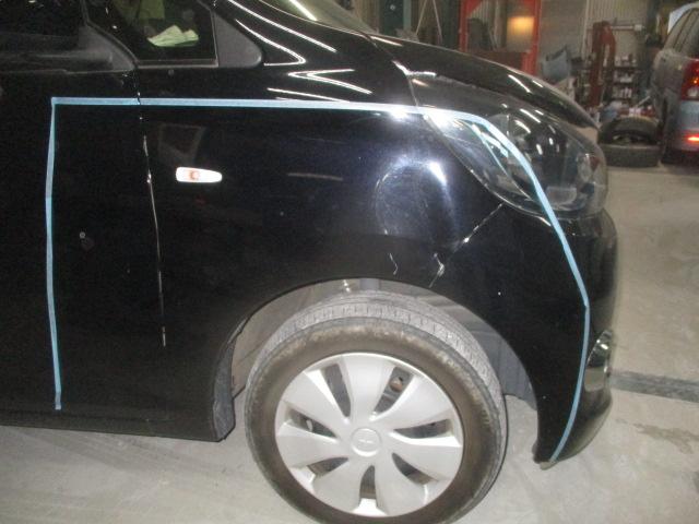三菱 eKワゴン 板金塗装修理事例